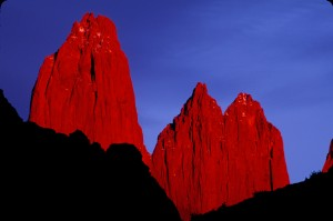 Red Towers, Torres del Paine National Park, Chilean Patagonia