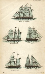 Barquentine and related styles