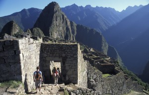 entering Machu Picchu at the end of the Inca Trail
