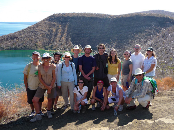 A large family in the Galapagos Islands