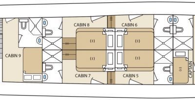 Aqua - Deck Plan - Upper Deck
