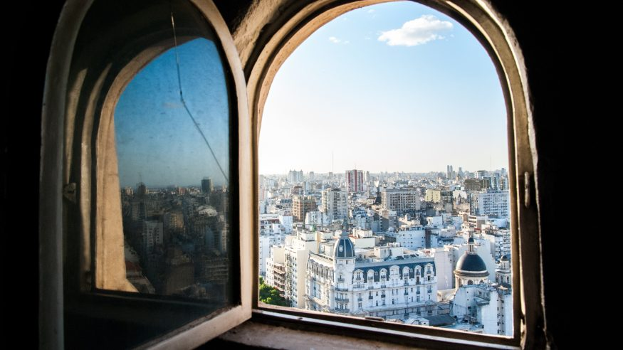 Buenos Aires viewed through a window