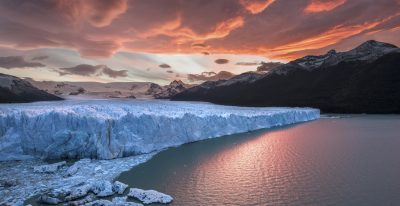 Perito Moreno Glacier at Dusk