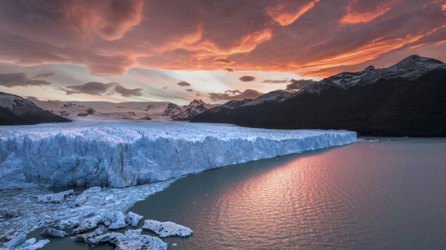 Sunset over Perito Moreno Glacier