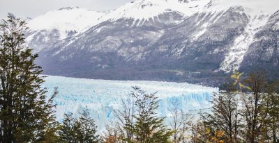 Fresh snow on Perito Moreno glacier