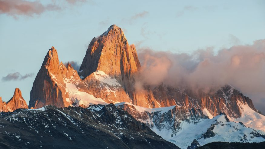 Fitz Roy Mountain at sunset