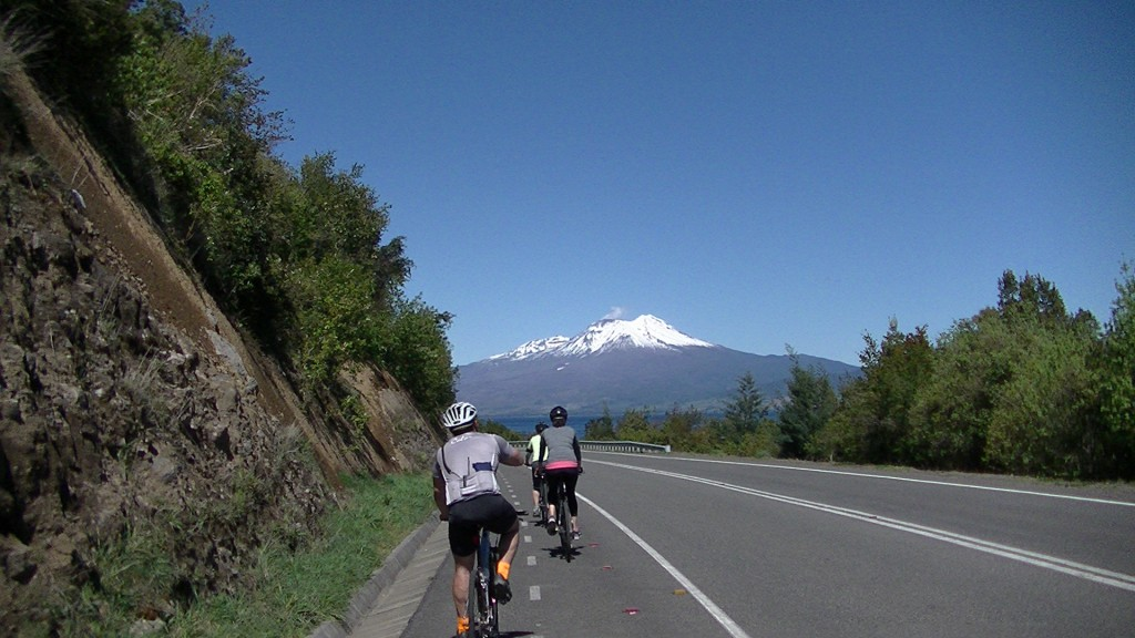 Biking around Lake Llanquihue