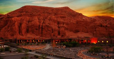 Alto Atacama_hotel at twilight