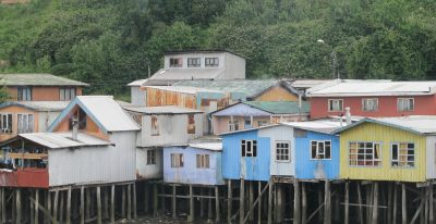 Chiloe - Colored houses on stilts