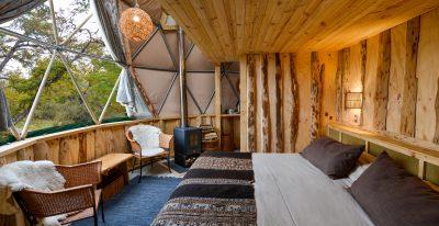 EcoCamp Patagonia_Suite Dome Loft interior