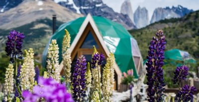 EcoCamp Patagonia_domes in summer