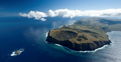 Explora Rapa Nui - Aerial view of the island