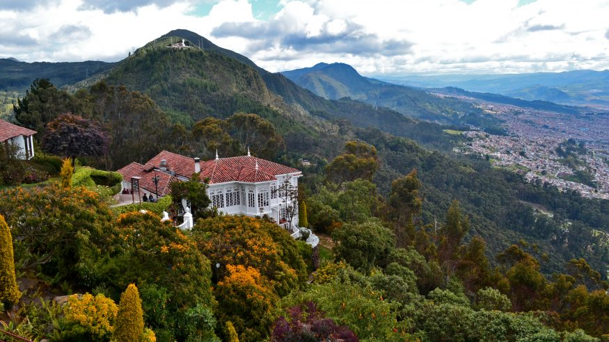 Monserrate Sanctuary and view of Bogota