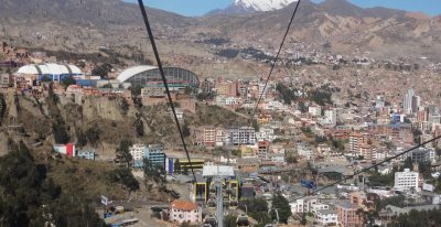 Cable car from El Alto to La Paz