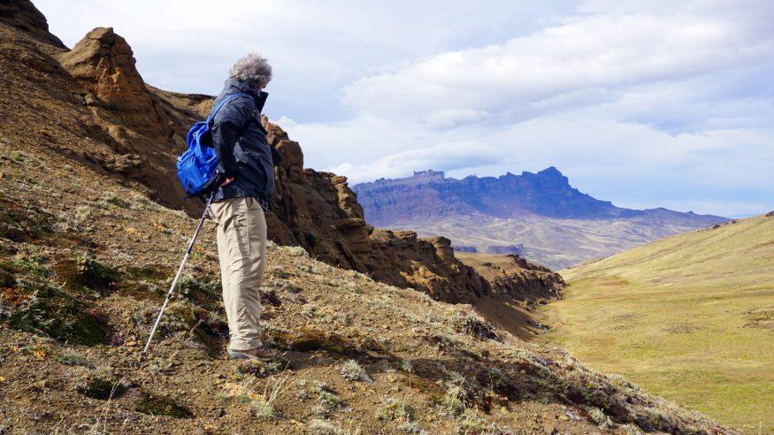 Dad looking over the Sierra Baguales Mountain Range