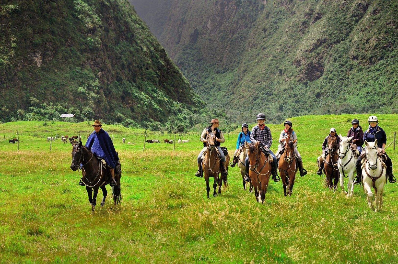 Horseback riding at the unmatched Hacienda Zuleta
