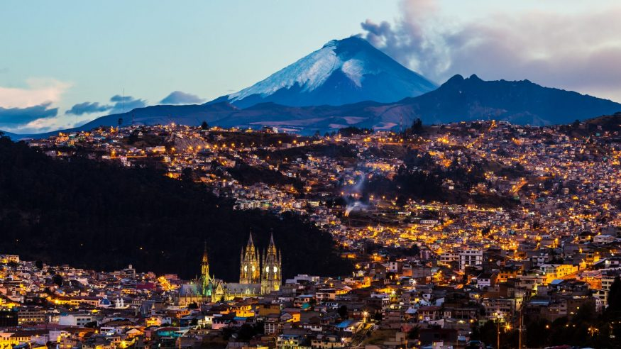 Quito at sunset