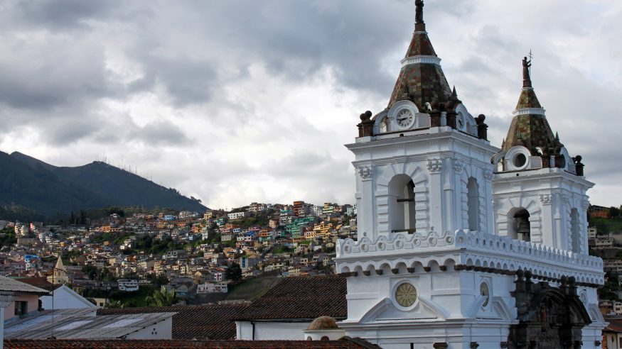 Ecuador_Quito_White church and city view