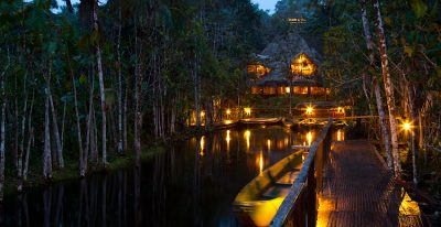 Sacha Lodge_night time