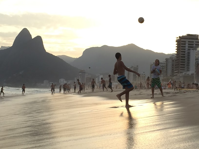 Foot-volley on the beach in Rio