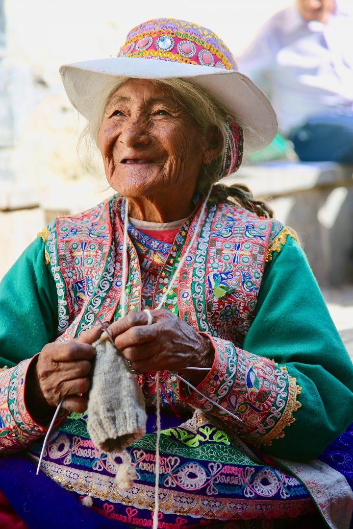 Local woman in Peru (photo credit Gilbert Willliams)