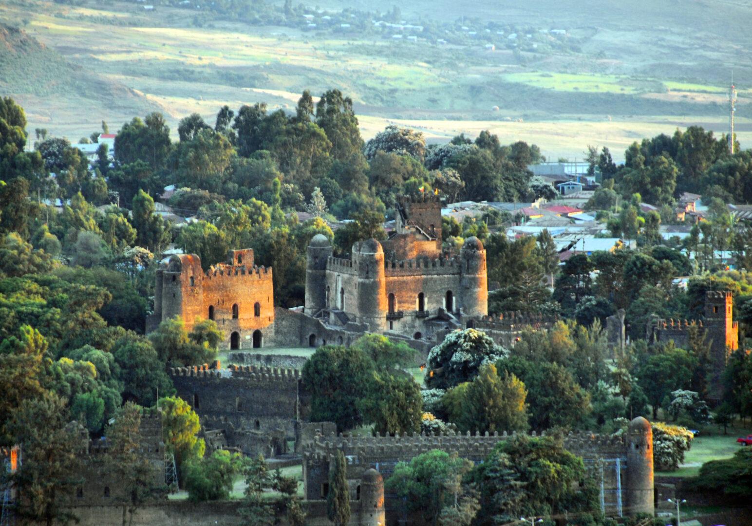 Gondar Castles in the Amhara Region of Ethiopia
