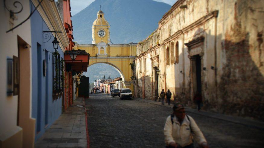 Guatemala - Antigua City with Volcano