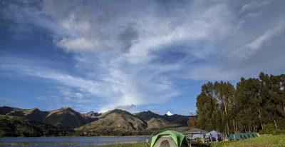 Camp at Lake Piuray