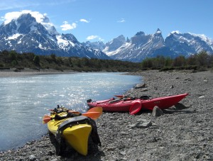 Kayaking, Torres del Paine National Park, Chilean Patagonia