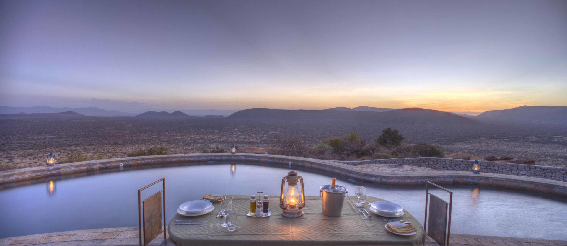 Kenya_Saruni Samburu_Pool dining