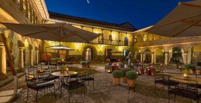 Palacio del Inka_Cuatro Bustos main courtyard