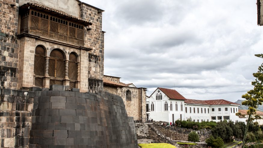 Stone walls and buildings in Cusco
