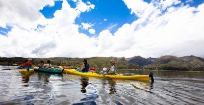 Kayaking on Lake Piuray