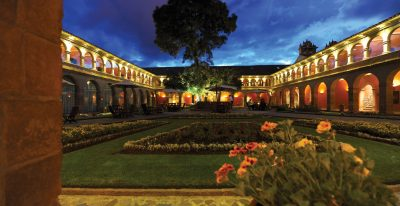Hotel Monasterio_courtyard at night