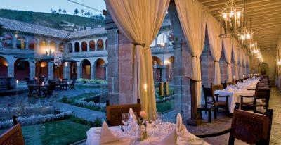 Hotel Monasterio_restaurant courtyard view