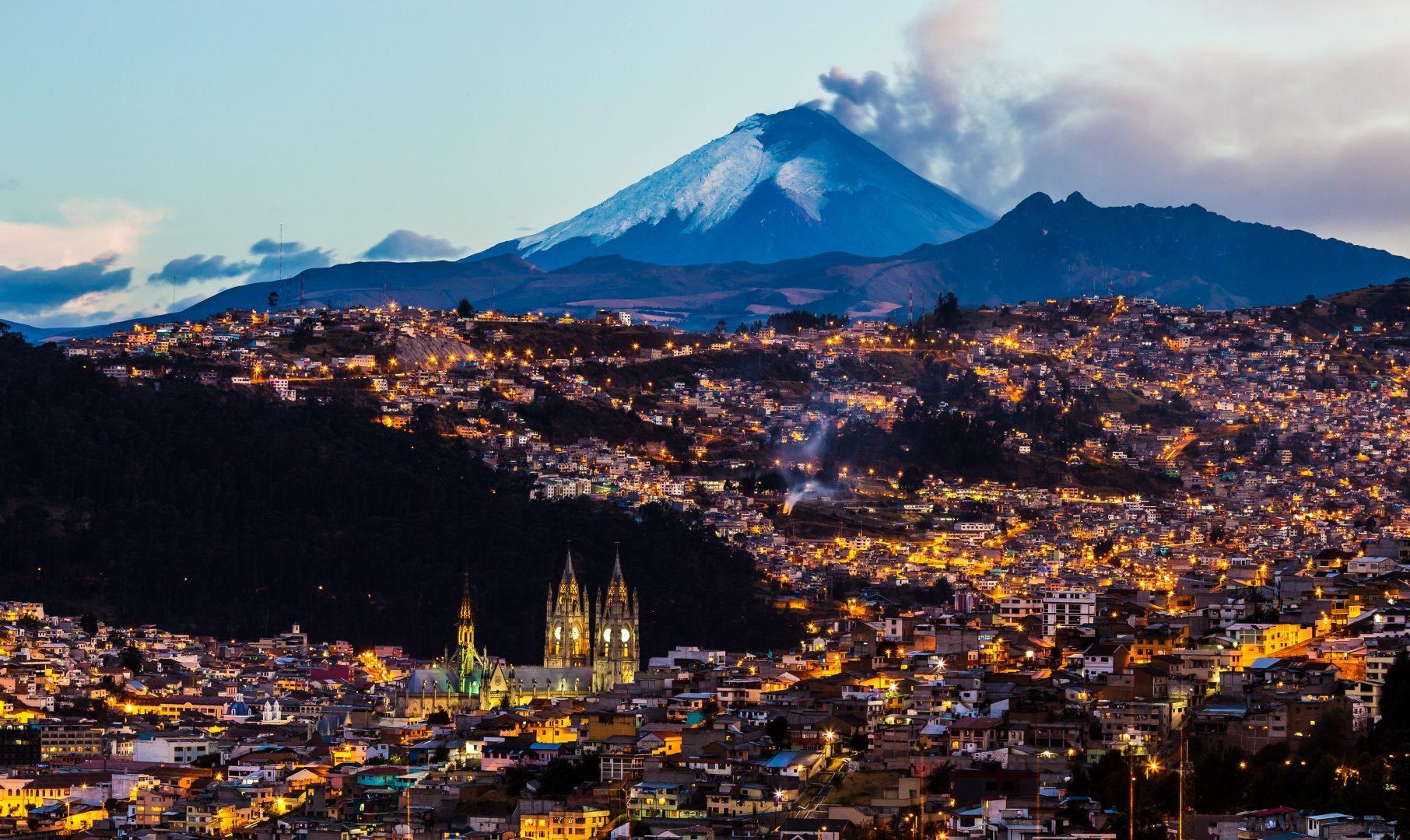 Quito at sunset