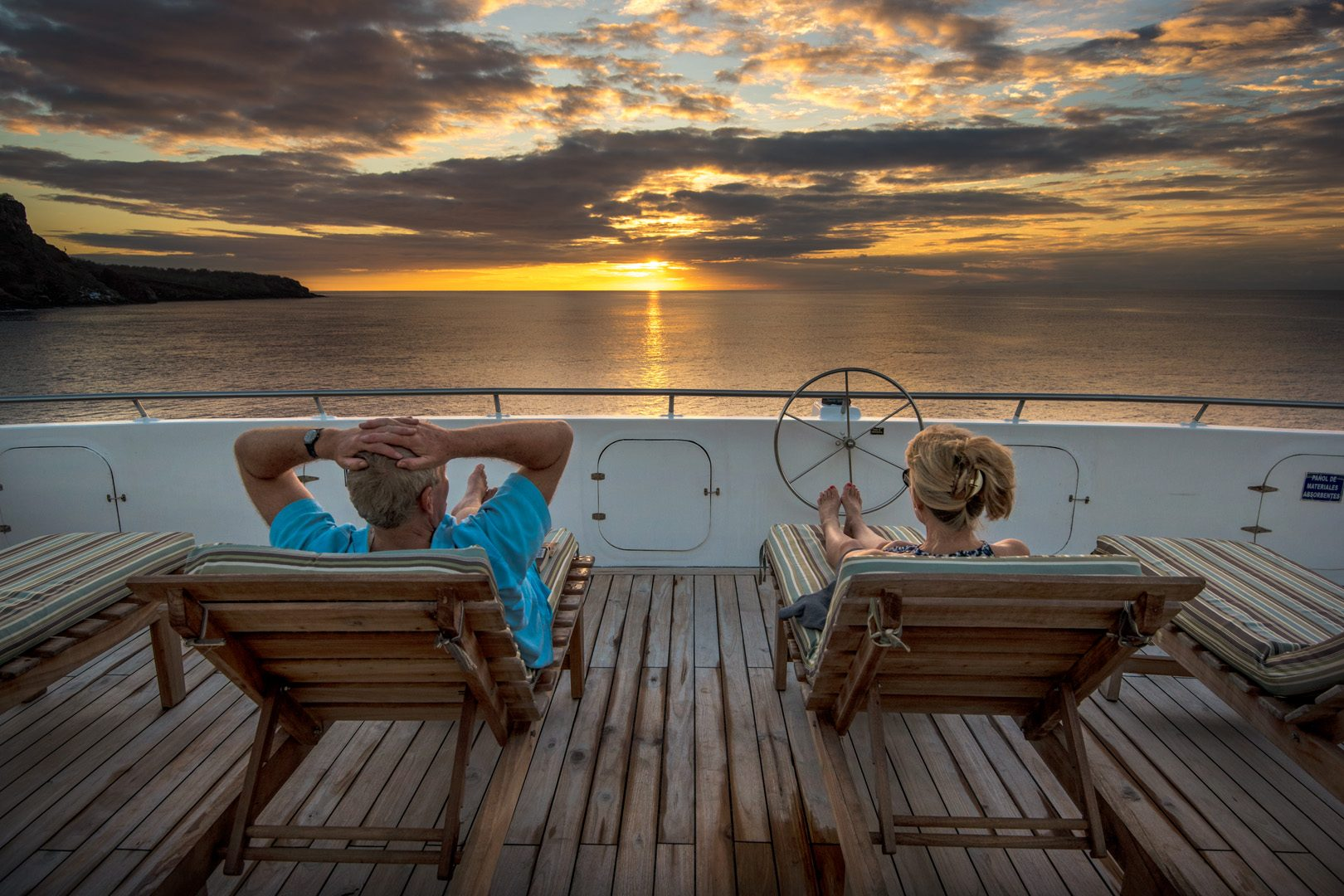 View from the sundeck of the Seaman Journey, Galapagos Islands, Ecuador (photo credit Reed Kaestner)
