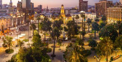 Chile - Santiago at dusk
