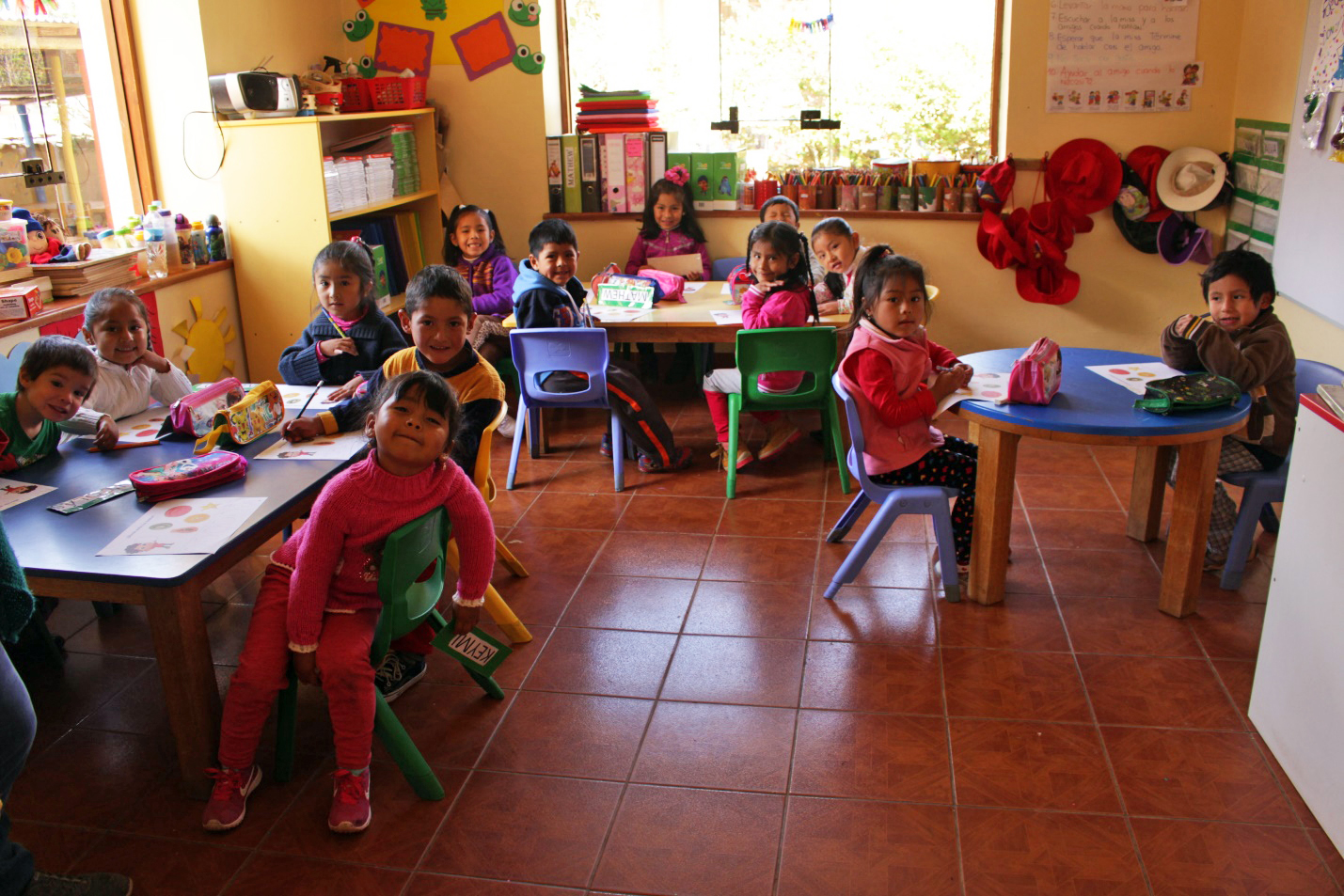 Students at the Sol y Luna school