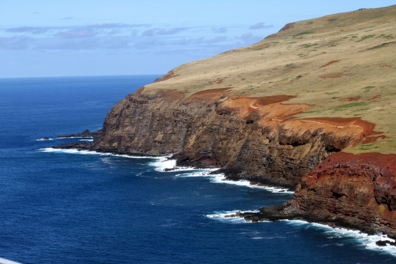 The cliffs of Rapa Nui