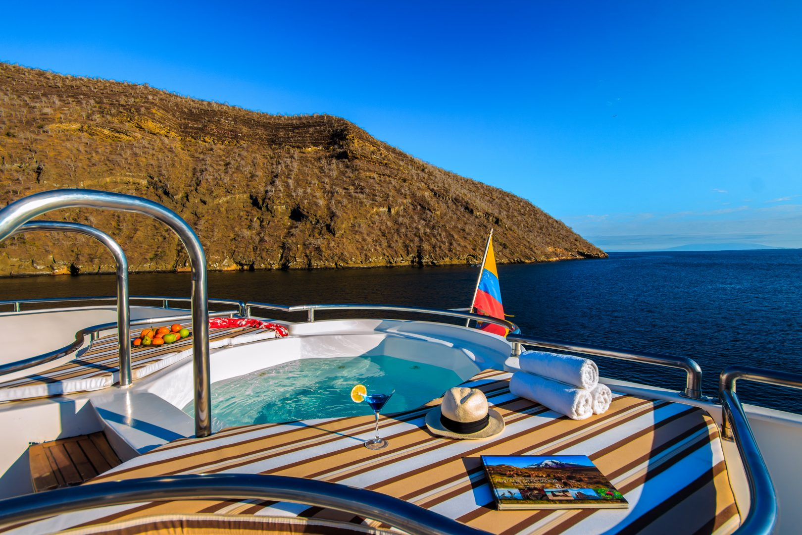 Sun deck on the Treasure of Galapagos