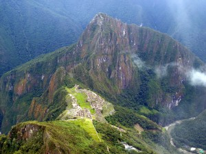 View of Machu Picchu from Machu Picchu Mountain