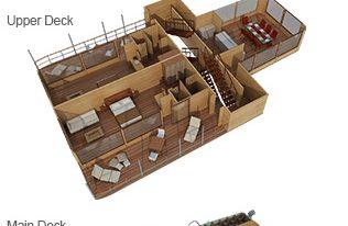 Delfin I - Deck Plan