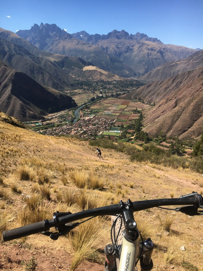 Biking down from Machu Kolka