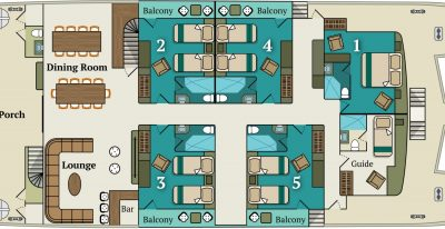 Alia - Main-deck Plan