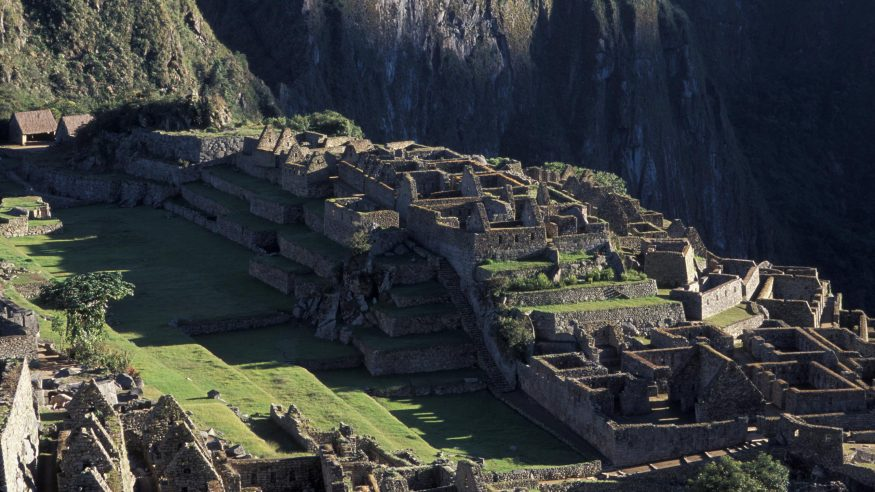 Machu Picchu Ruins Close Up