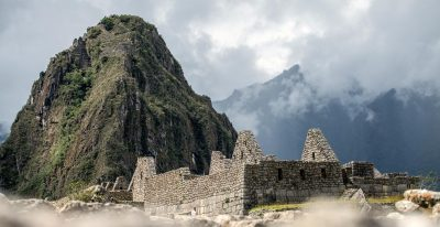 Ruins at Machu Picchu Closeup