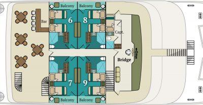 Alia - Upper-deck Plan